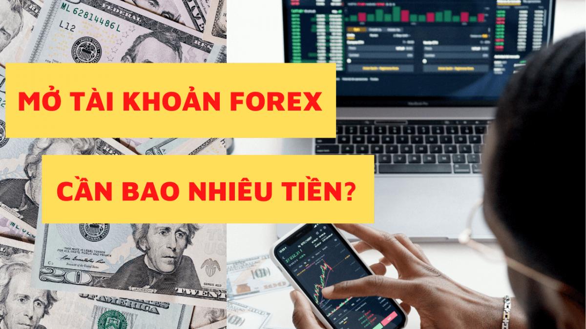 Mở tài khoản Forex cần bao nhiêu tiền